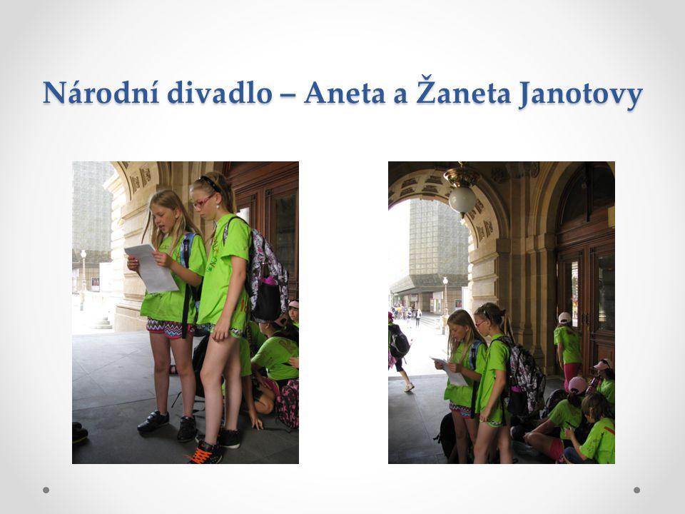 Národní divadlo – Aneta a Žaneta Janotovy
