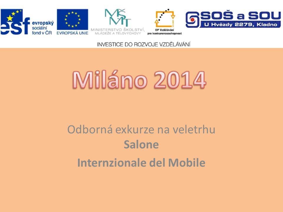 Odborná exkurze na veletrhu Salone Internzionale del Mobile