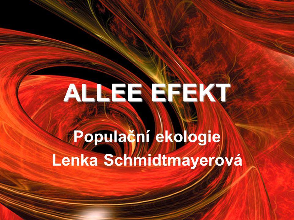 ALLEE EFEKT Populační ekologie Lenka Schmidtmayerová