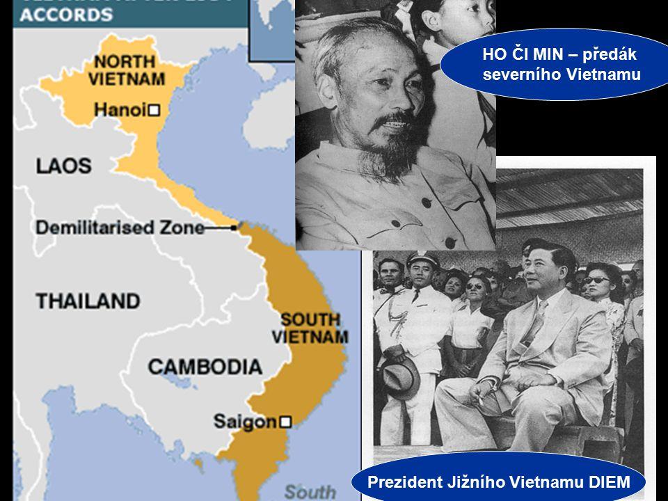 Jiří Řehák Gymnázium Teplice 2006 3 VÁLKA VE VIETNAMU Ženevské dohody – 1954 –Rozdělení Vietnamu podle 17. rovnoběžky Na severu komunistický režim, po