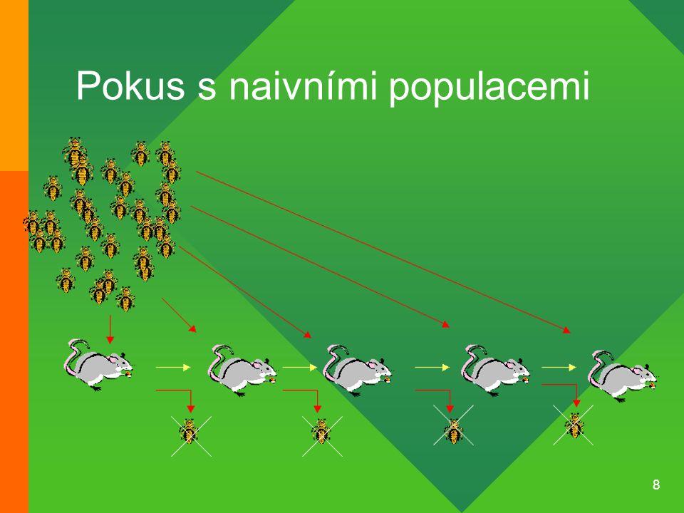 8 Pokus s naivními populacemi