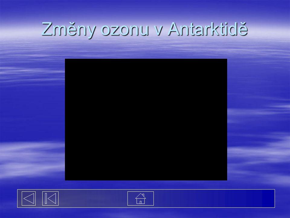 Změny ozonu v Antarktidě