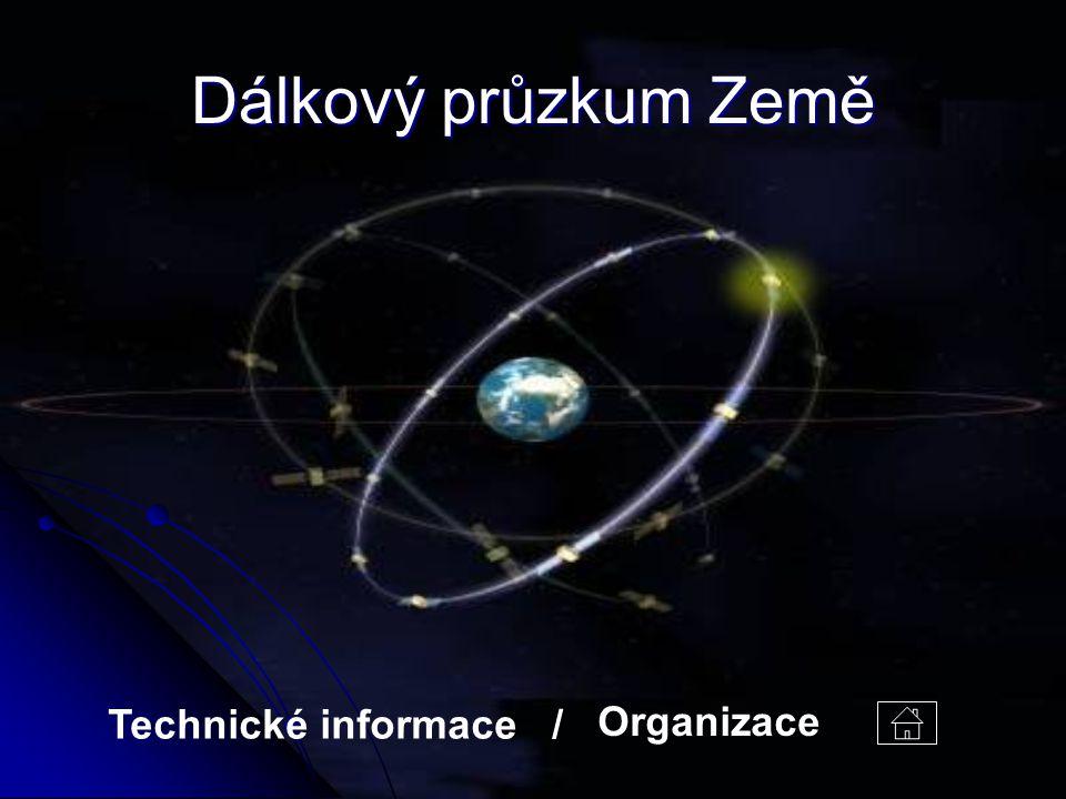 Dálkový průzkum Země Organizace Technické informace /