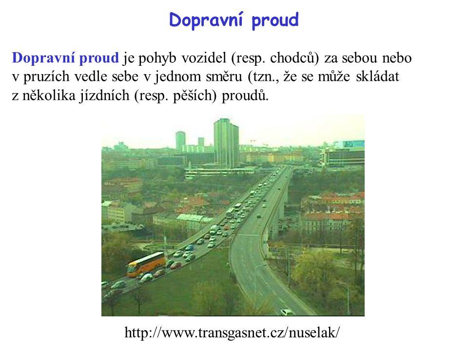 Dopravní proud Dopravní proud je pohyb vozidel (resp.