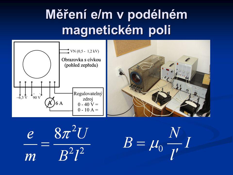 Měření e/m v podélném magnetickém poli
