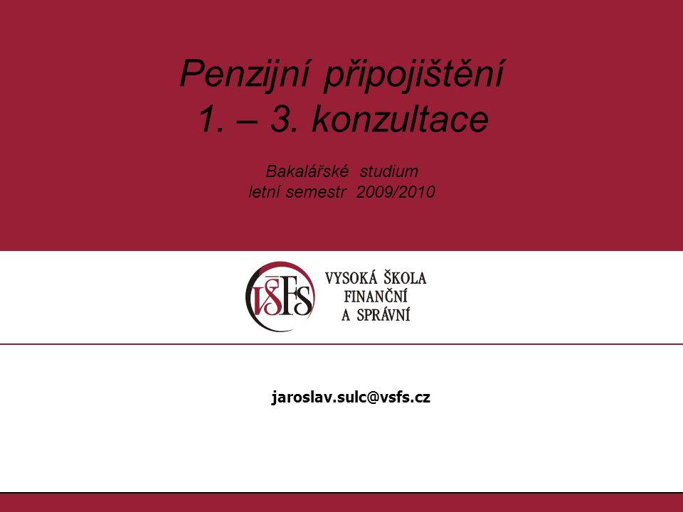Penzijní připojištění 1. – 3.