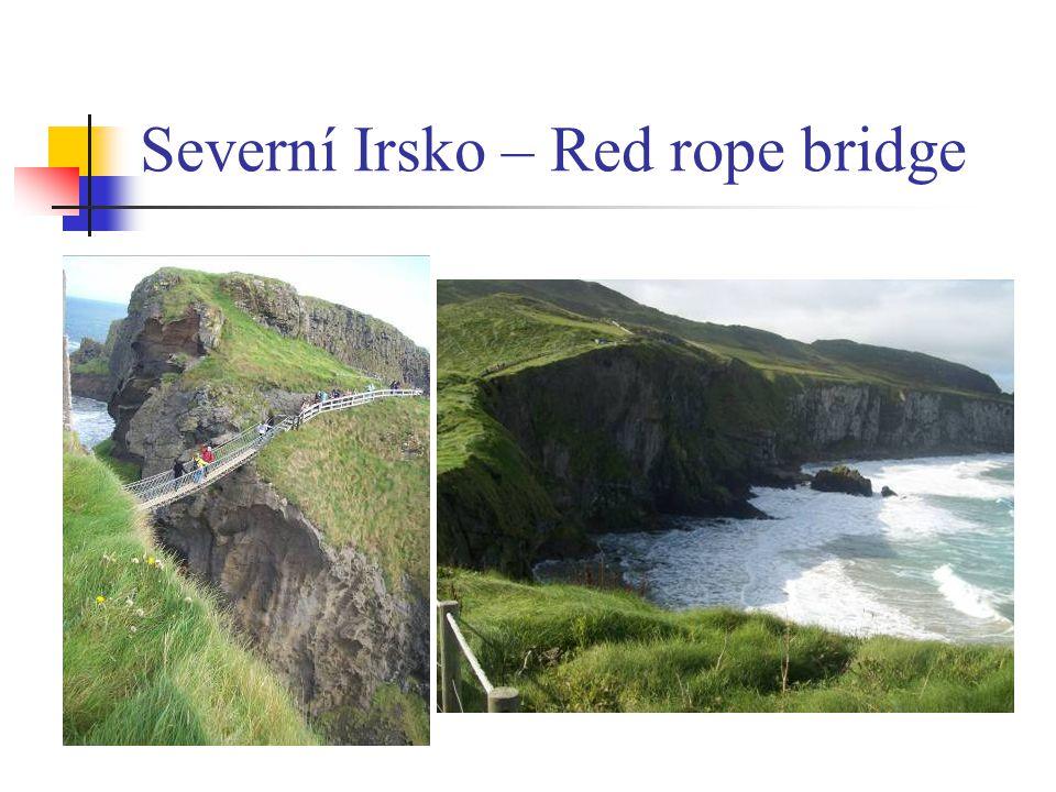 Severní Irsko – Red rope bridge