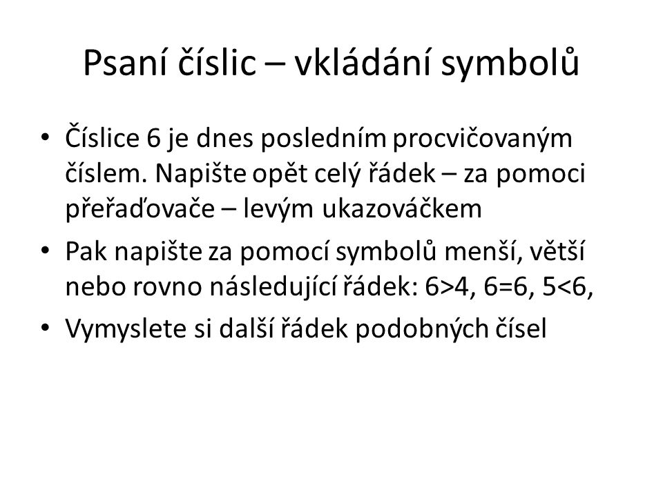 Vkládání symbolů