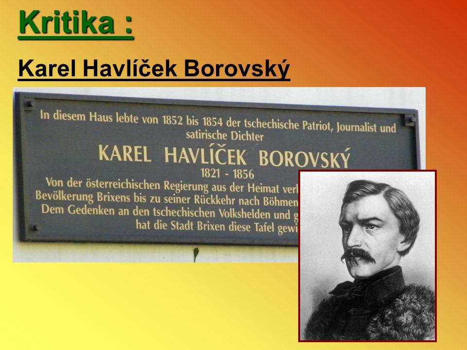 Kritika : Karel Havlíček Borovský