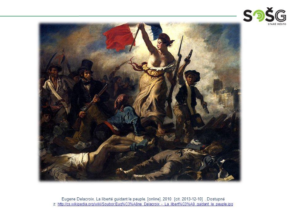 Eugene Delacroix. La liberté guidant le peuple. [online].
