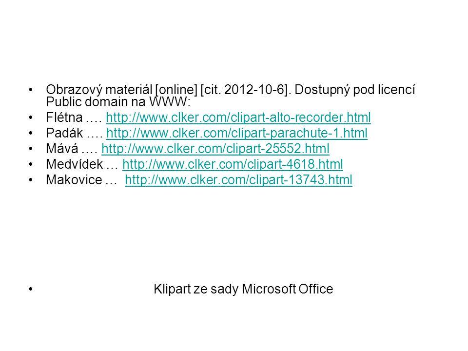Obrazový materiál [online] [cit. 2012-10-6]. Dostupný pod licencí Public domain na WWW: Flétna ….