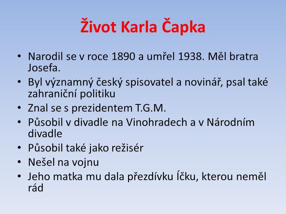 Život Karla Čapka