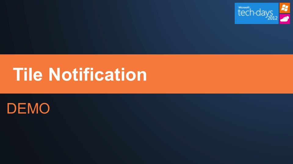 DEMO Tile Notification