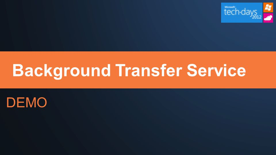 DEMO Background Transfer Service
