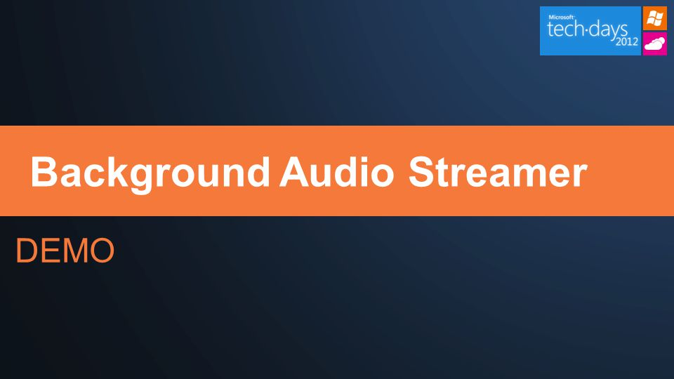 DEMO Background Audio Streamer