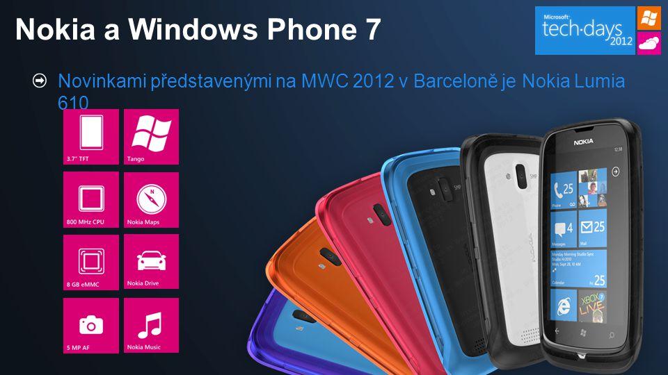 Novinkami představenými na MWC 2012 v Barceloně je Nokia Lumia 610 Nokia a Windows Phone 7