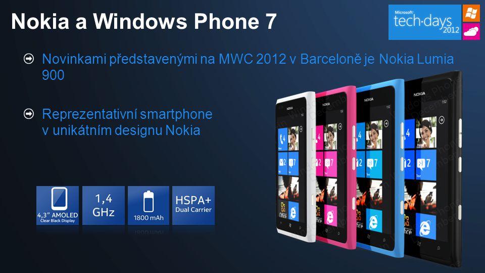 Novinkami představenými na MWC 2012 v Barceloně je Nokia Lumia 900 Reprezentativní smartphone v unikátním designu Nokia Nokia a Windows Phone 7