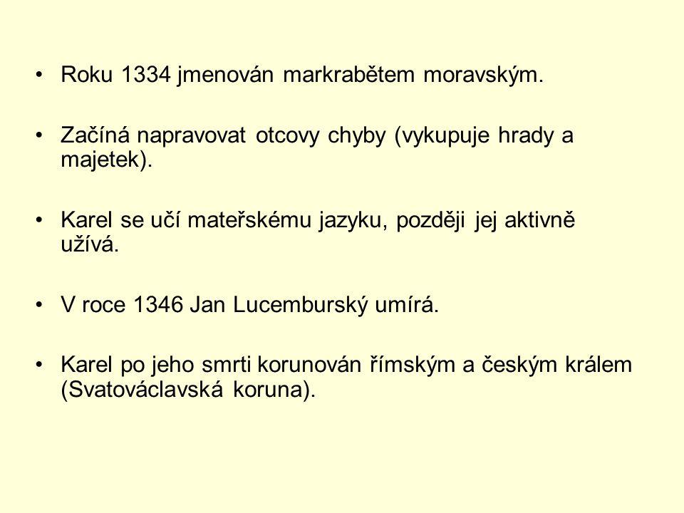 Roku 1334 jmenován markrabětem moravským.