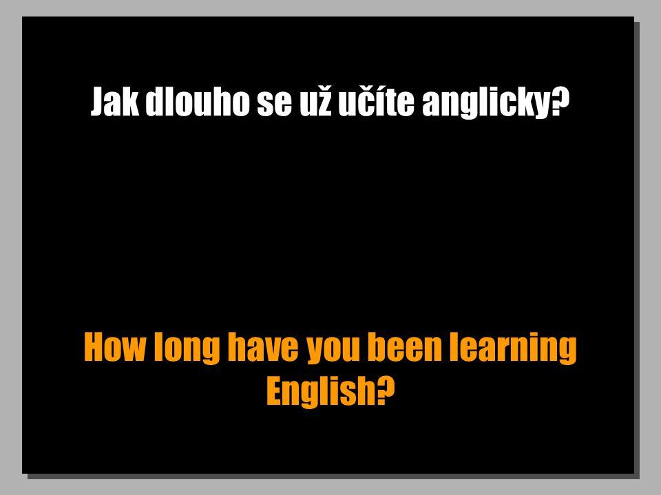 Jak dlouho se už učíte anglicky How long have you been learning English
