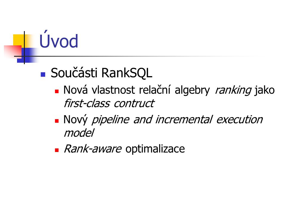 Ranking Query Model