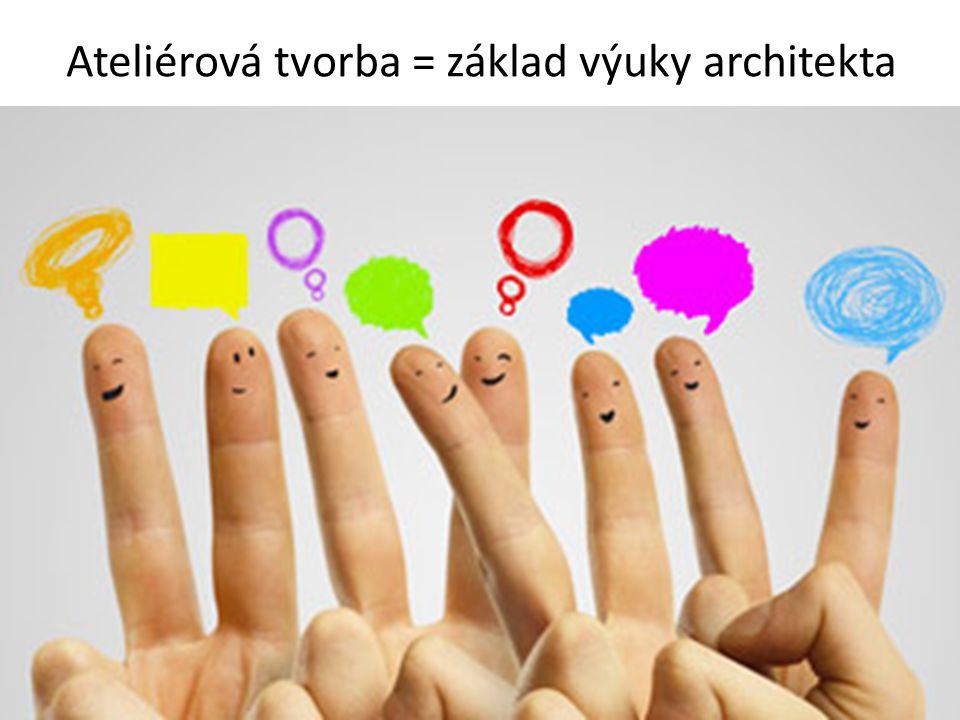 Ateliérová tvorba = základ výuky architekta