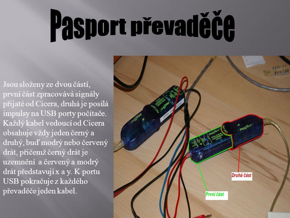 Jsou složeny ze dvou částí, první část zpracovává signály přijaté od Cicera, druhá je posílá impulsy na USB porty počítače. Každý kabel vedoucí od Cic