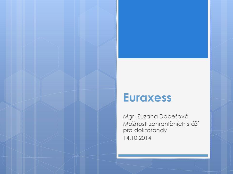 Euraxess Mgr. Zuzana Dobešová Možnosti zahraničních stáží pro doktorandy 14.10.2014