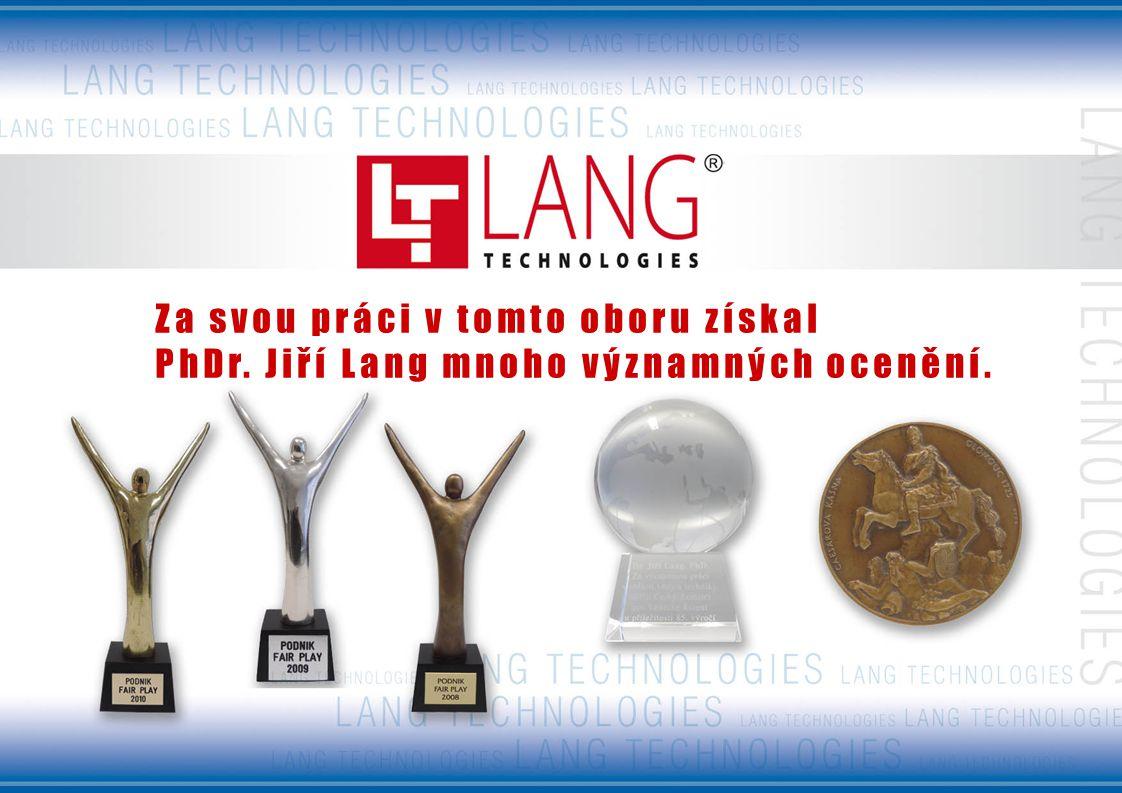 Za svou práci v tomto oboru získal PhDr. Jiří Lang mnoho významných ocenění.