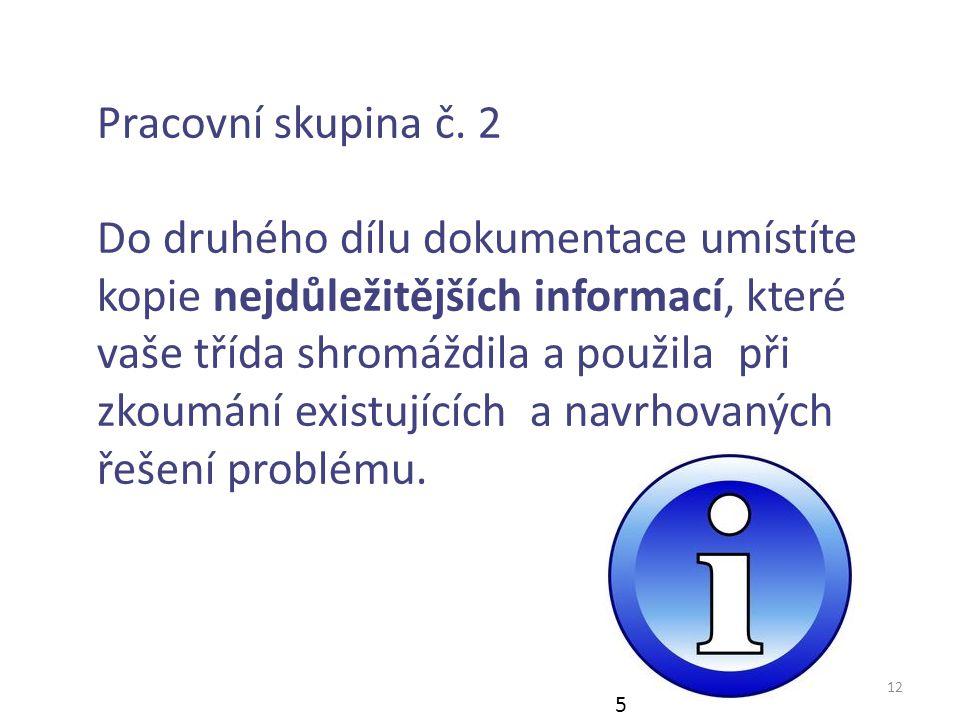 12 Pracovní skupina č.