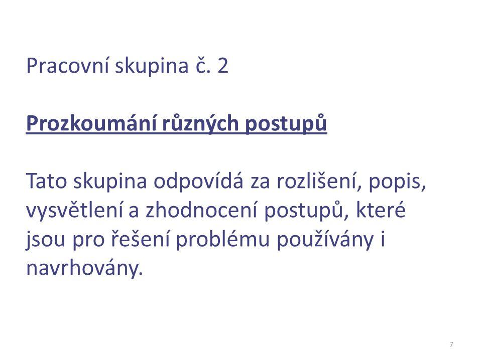 8 Pracovní skupina č.