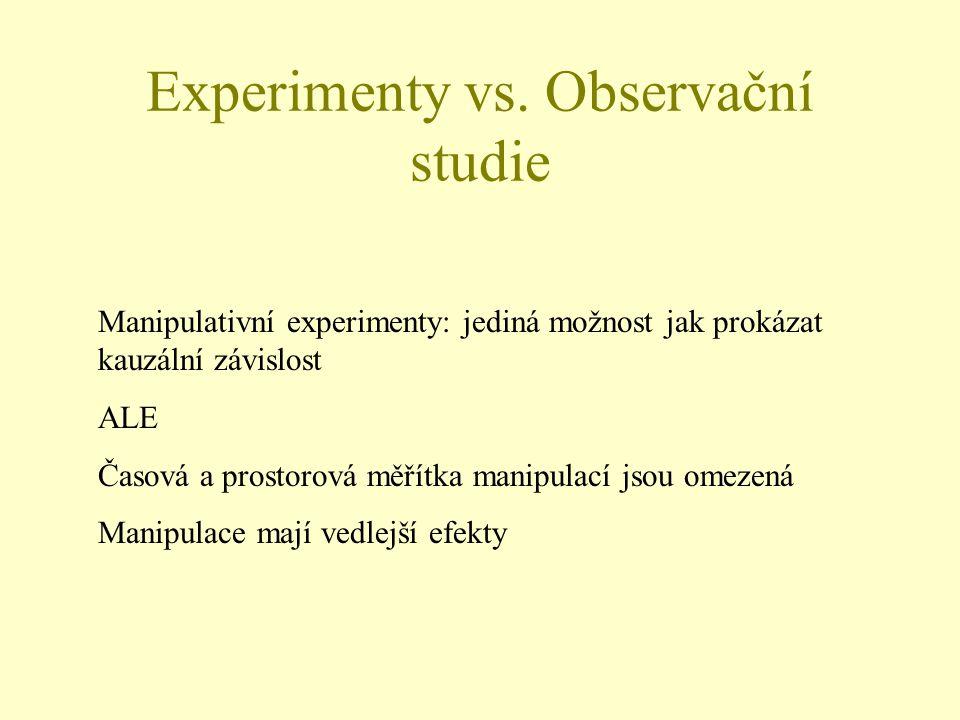 Experimenty vs.