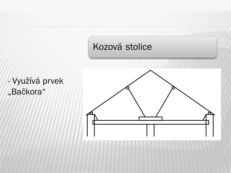 """Kozová stolice - Využívá prvek """"Bačkora"""""""