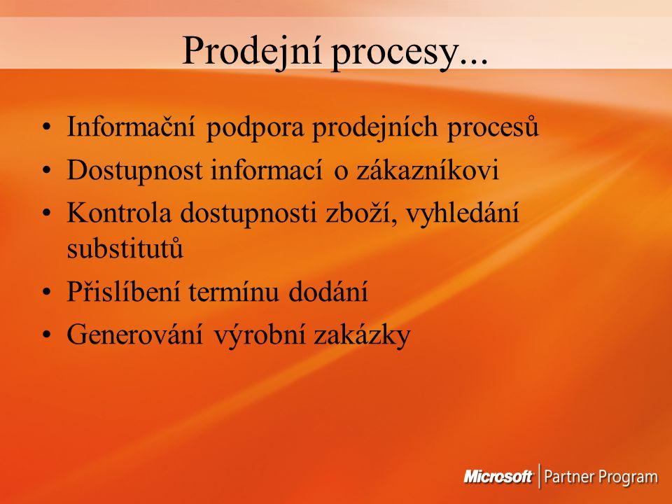 Prodejní procesy...