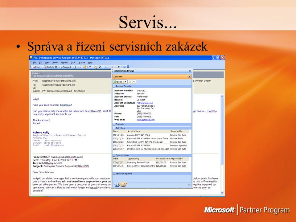 Servis... Správa a řízení servisních zakázek