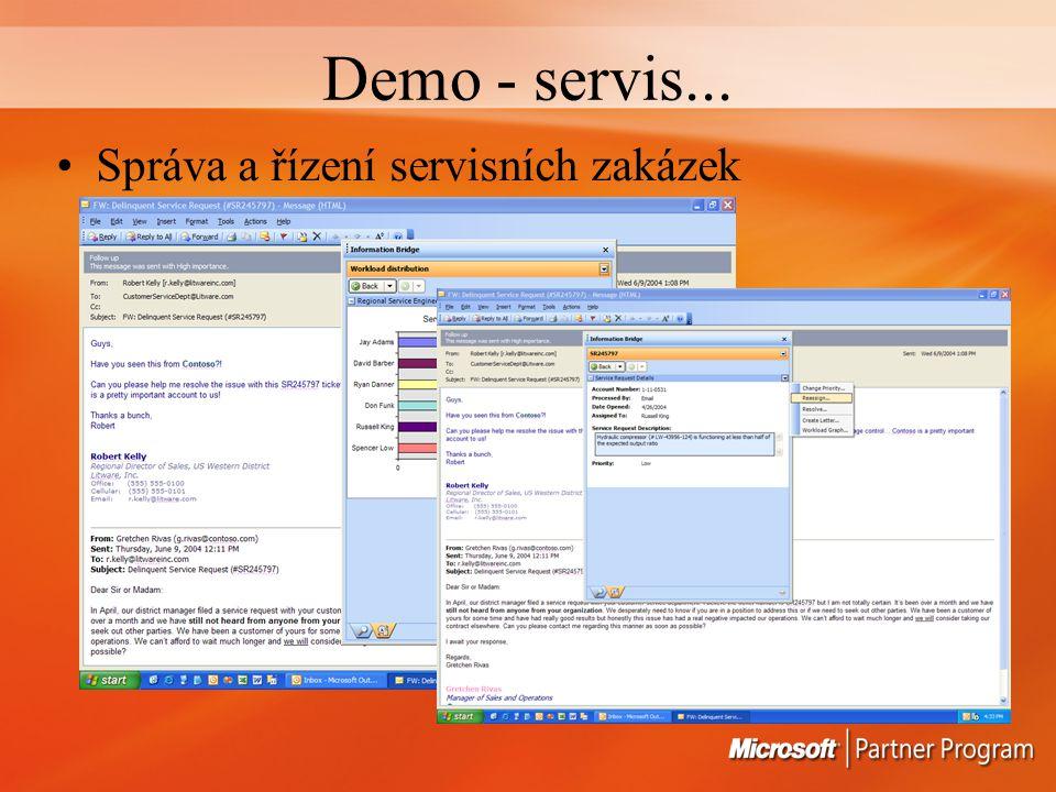 Demo - servis... Správa a řízení servisních zakázek