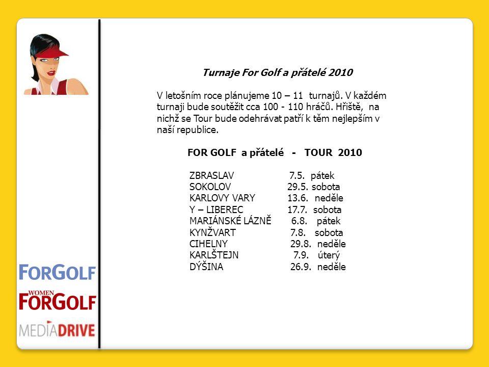 Turnaje For Golf a přátelé 2010 V letošním roce plánujeme 10 – 11 turnajů.
