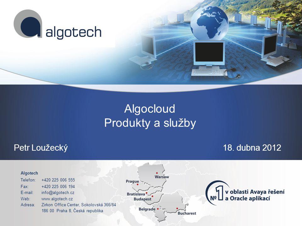 Algotech Telefon:+420 225 006 555 Fax:+420 225 006 194 E-mail:info@algotech.cz Web:www.algotech.cz Adresa:Zirkon Office Center, Sokolovská 366/84 186