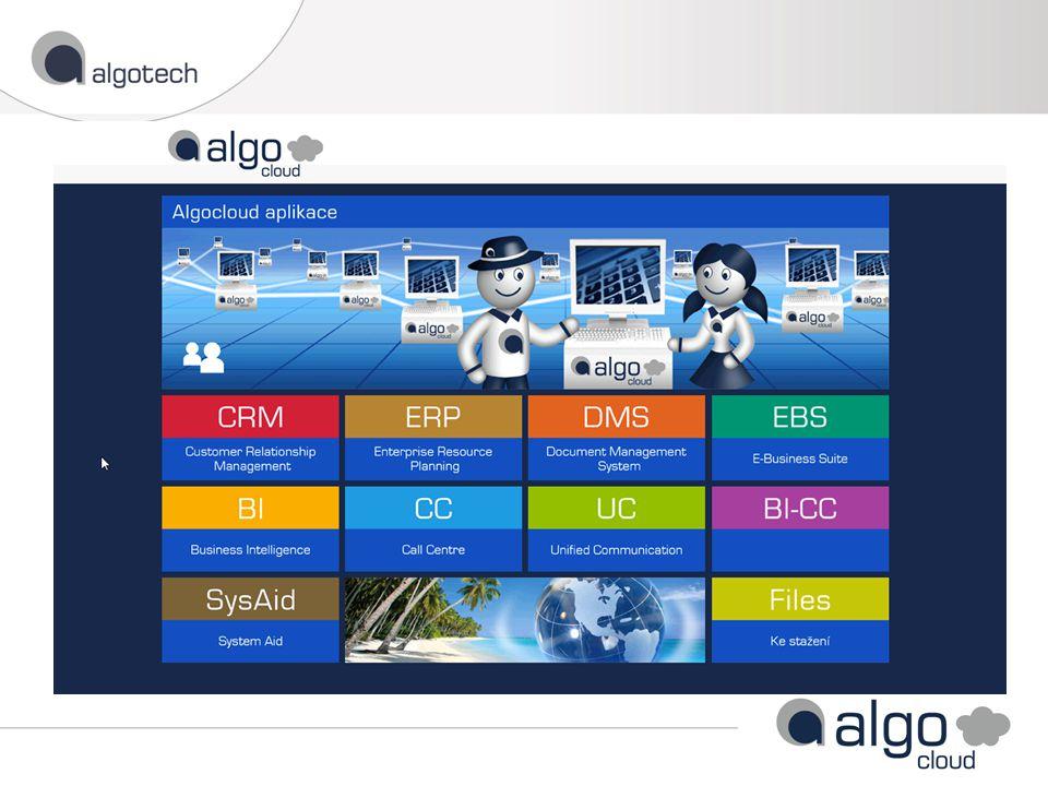Přístup do vašich aplikací Přístup do Algotech Helpdesku Přístup k informacím pro vás (návody, faktury, reporty) Informační kanál o nás pro vás AlgoPortál
