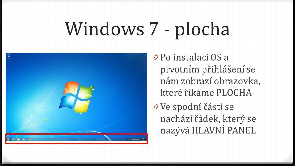 Windows 7 - plocha 0 Po instalaci OS chybí ikona Tento počítač a Soubory uživatele, na které jsme byli zvyklí v předchozích verzích OS 0 Klikněte pravým tlačítkem myši na volném místě na ploše (ne na Hlavním panelu, ani na žádné ikoně)