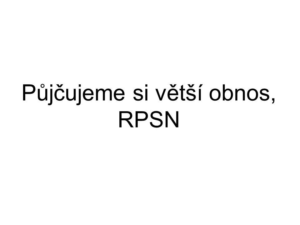Půjčujeme si větší obnos, RPSN