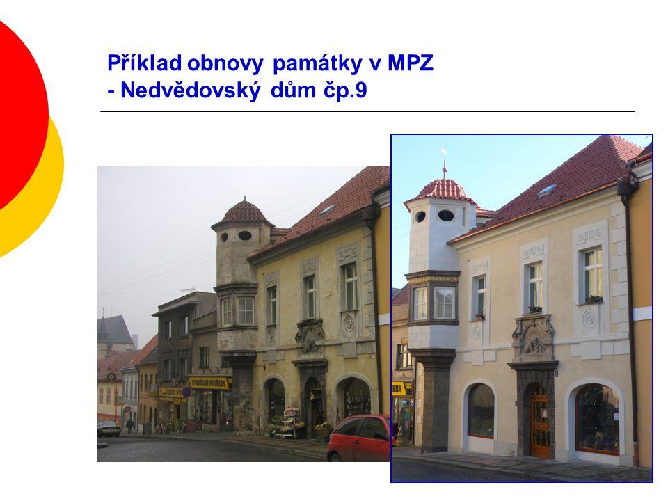 Příklad obnovy památky v MPZ - Nedvědovský dům čp.9