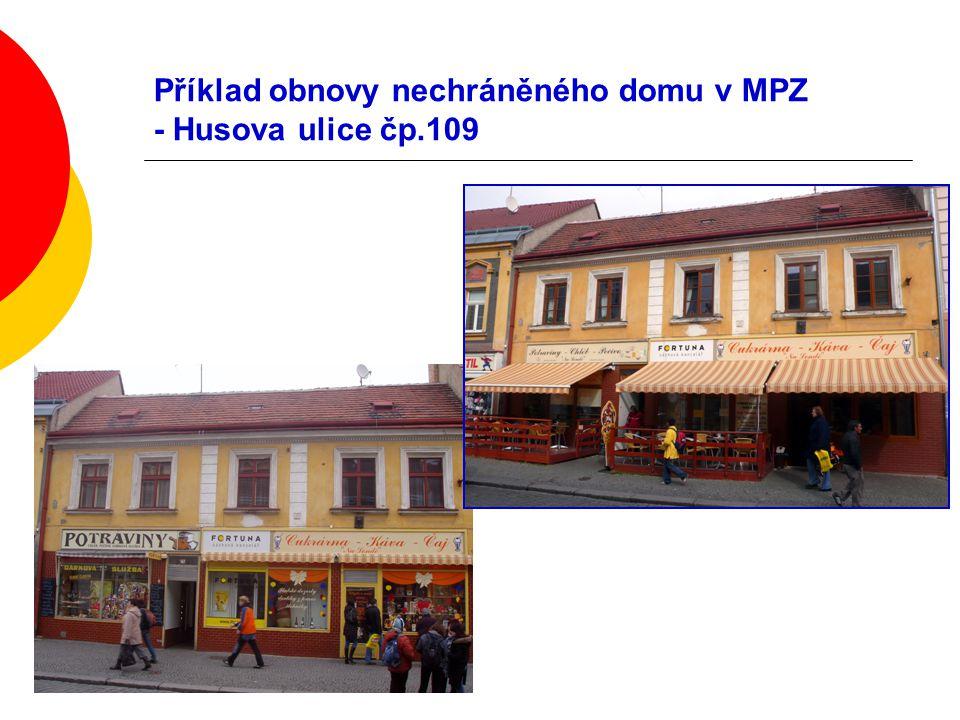 Příklad obnovy nechráněného domu v MPZ - Husova ulice čp.109