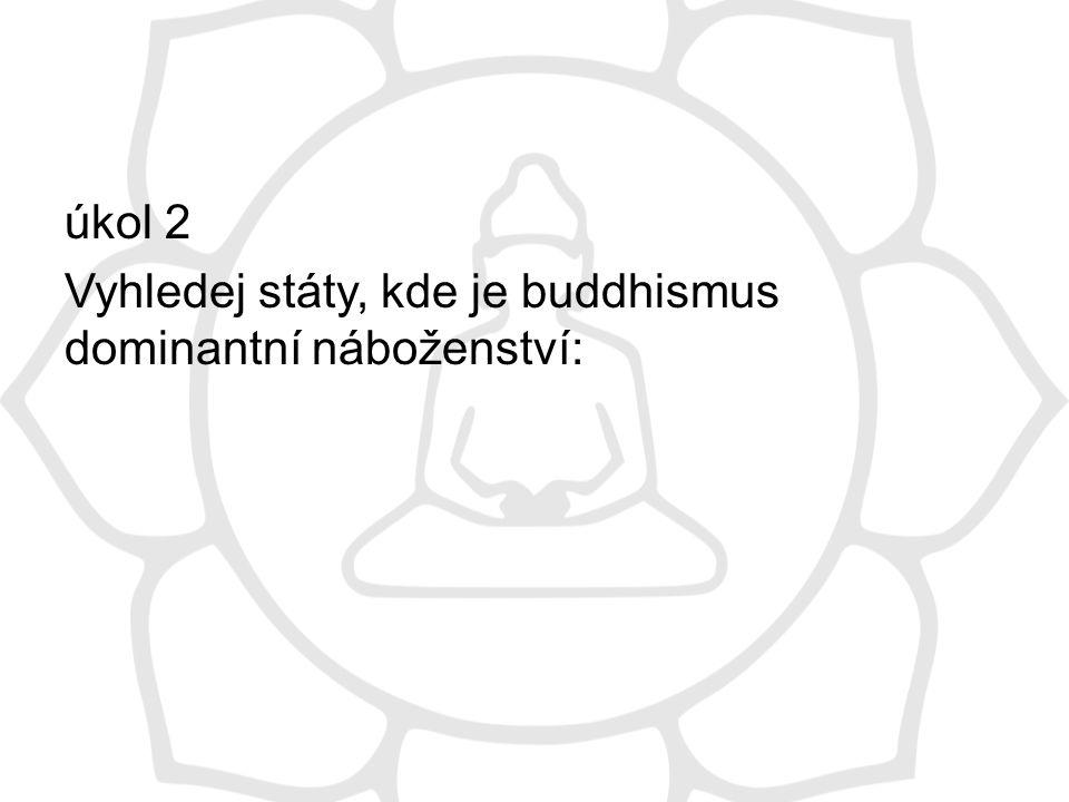 obr 2 Procentuální zastoupení buddhistů v populaci