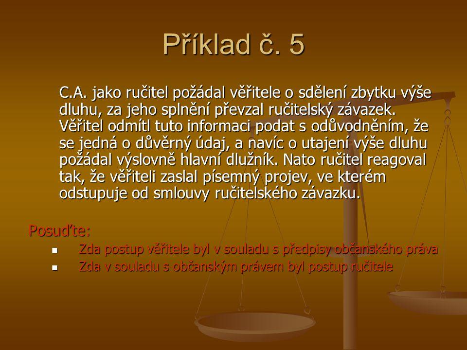 Příklad č. 5 C.A.