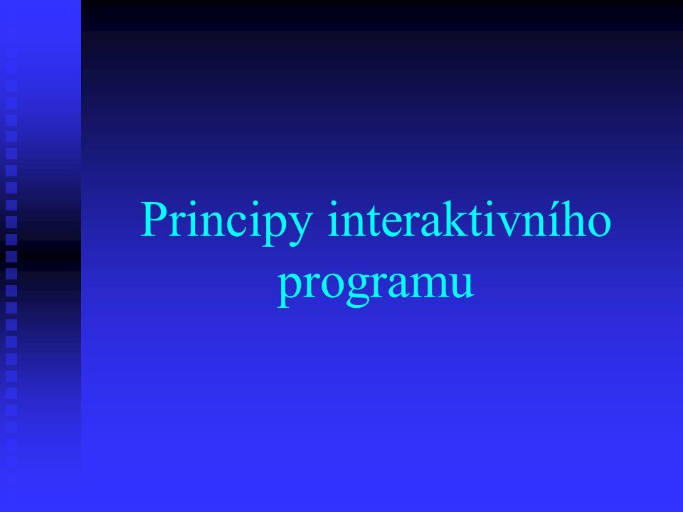 Co je to interaktivní program.