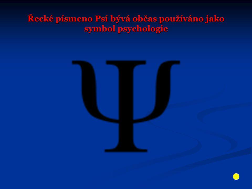 Řecké písmeno Psí bývá občas používáno jako symbol psychologie