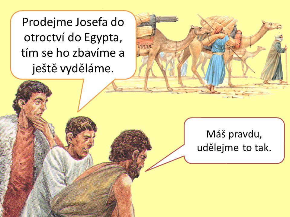 Prodejme Josefa do otroctví do Egypta, tím se ho zbavíme a ještě vyděláme.