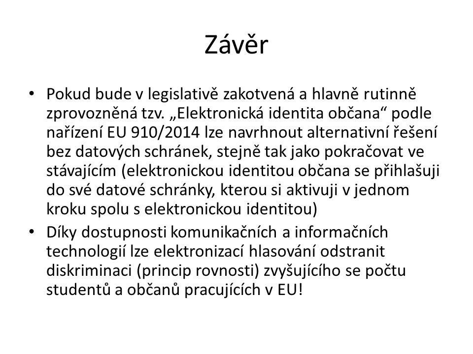 Závěr Pokud bude v legislativě zakotvená a hlavně rutinně zprovozněná tzv.