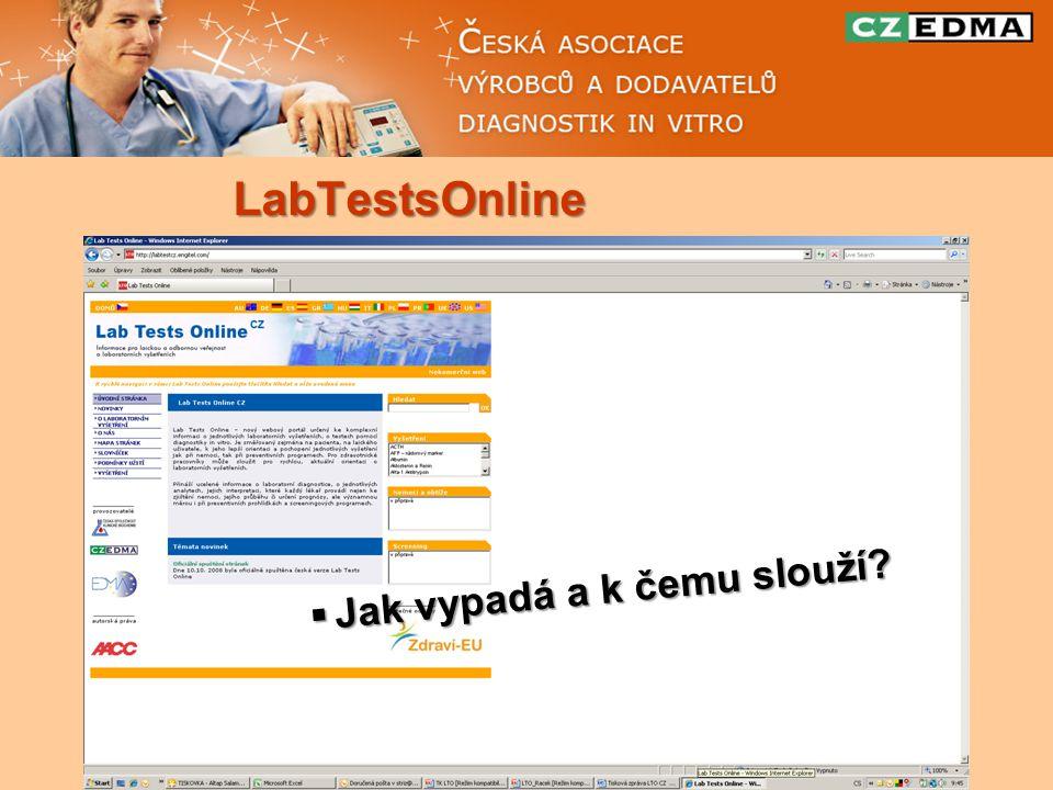 LabTestsOnline  Jak vypadá a k čemu slouží