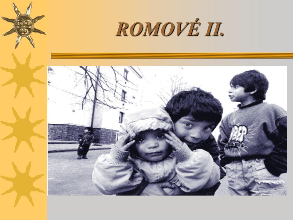 Cíle následujících SSPV:  Znát základní údaje o Romech v ČR  Znát strukturu romské společnosti  Schopnost –odhalit a racionálně vyvracen předsudky –vnímat problémy v komunikaci a soužití racionálně –zaujmout tolerantní postoj a umět ho obhájit